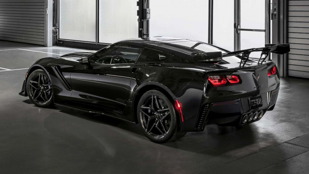 The Corvette ZR1 has a supercharged 6.2-liter V8 engine that produces 755 horsepower.