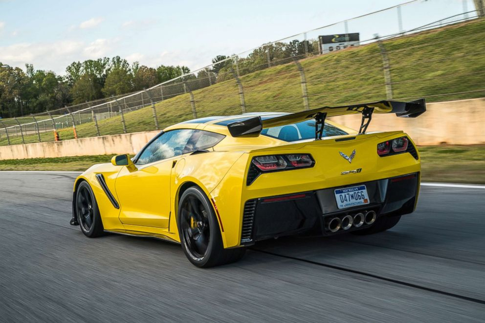PHOTO: The ZR1 has unique aerodynamic designs, including a rear wing, to improve efficiency and speed.