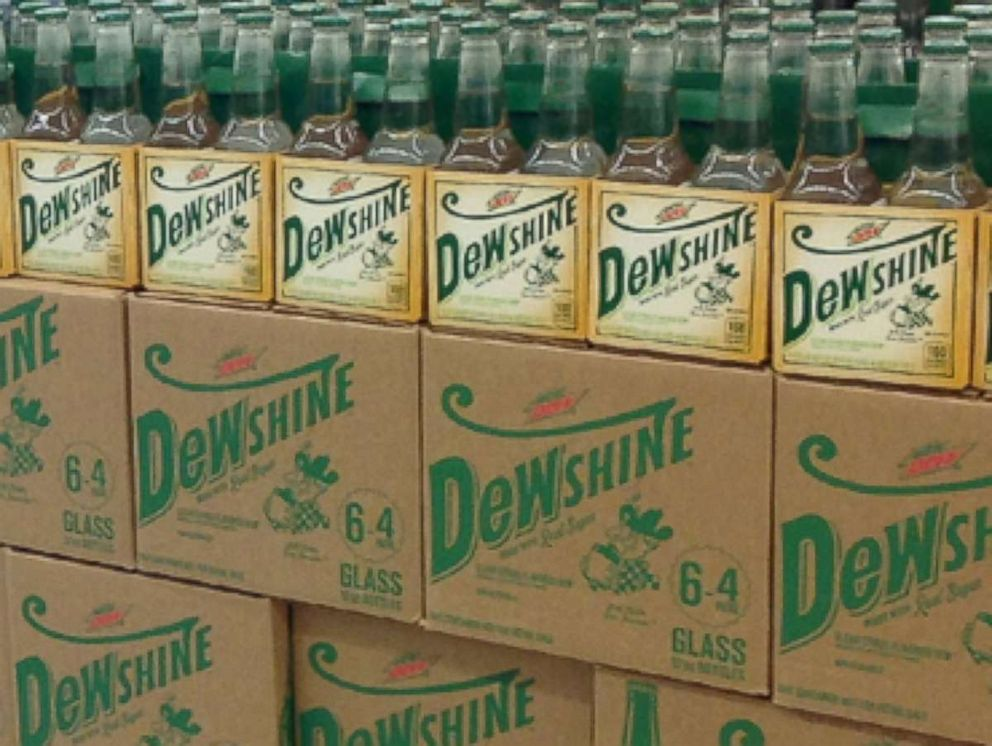 PHOTO: New product from Mountain Dew, Mtn Dew DEWshine, is seen here.