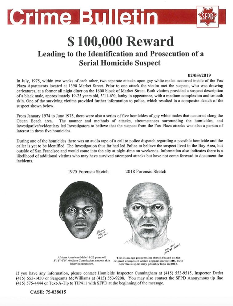 New details released in unsolved 'Doodler' serial killer