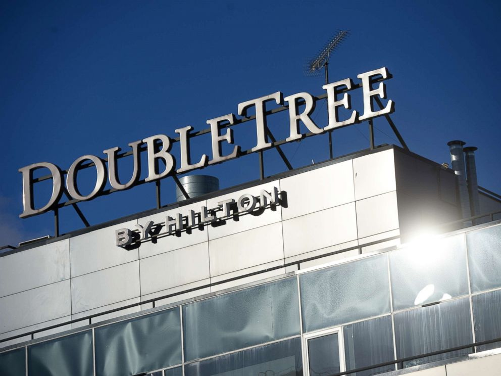 PHOTO: A DoubleTree by Hilton sign is pictured in this undated photo.