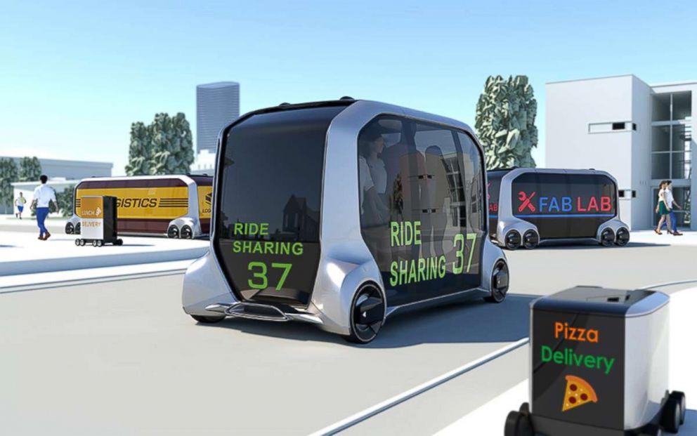 PHOTO: The self driving e-Palate concept car.