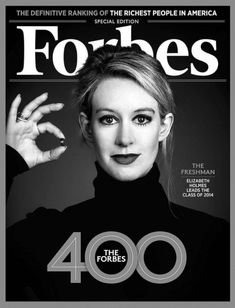 PHOTO: Elizabeth Holmes on the cover of Forbes.