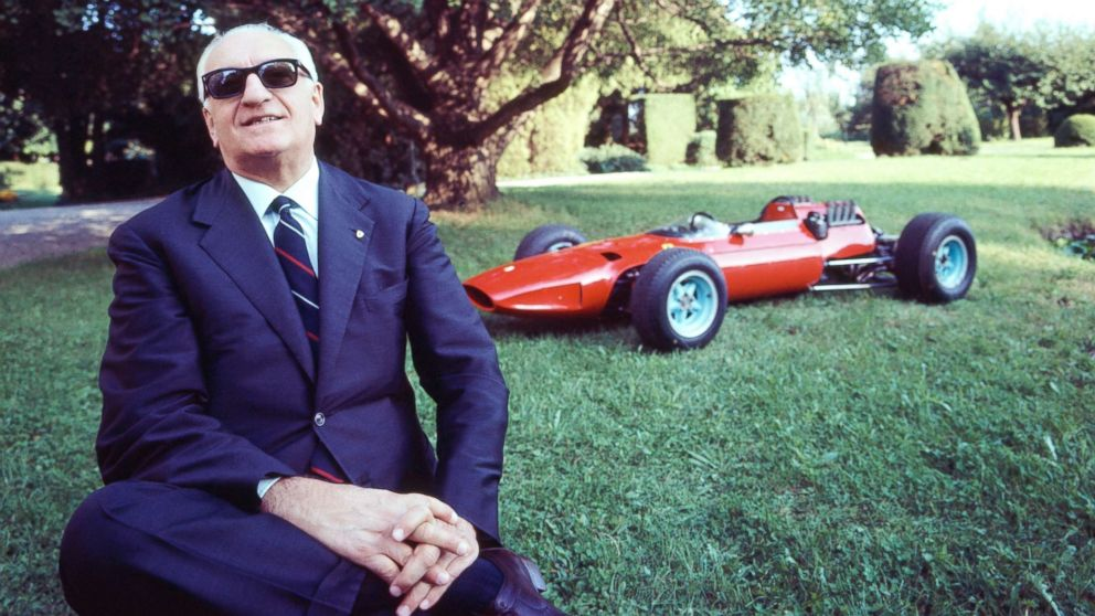 Italian former race car driver and entrepreneur Enzo Ferrari, founder of the Scuderia Ferrari Grand Prix motor racing team and of the Ferrari car manufacturer, at home in Bergamo, Italy, in this undated photo.