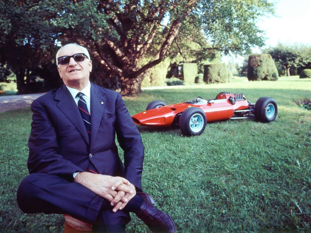 PHOTO: Italian former race car driver and entrepreneur Enzo Ferrari, founder of the Scuderia Ferrari Grand Prix motor racing team and of the Ferrari car manufacturer, at home in Bergamo, Italy, in this undated photo.