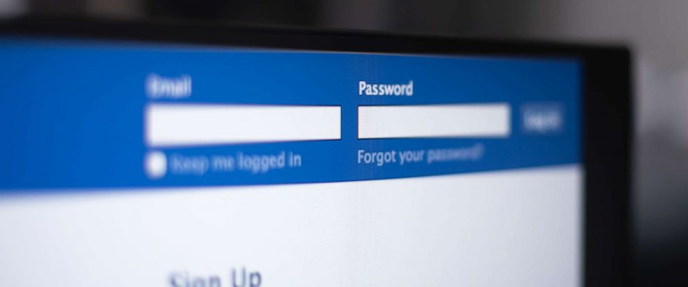PHOTO: A photo of Facebook login page.
