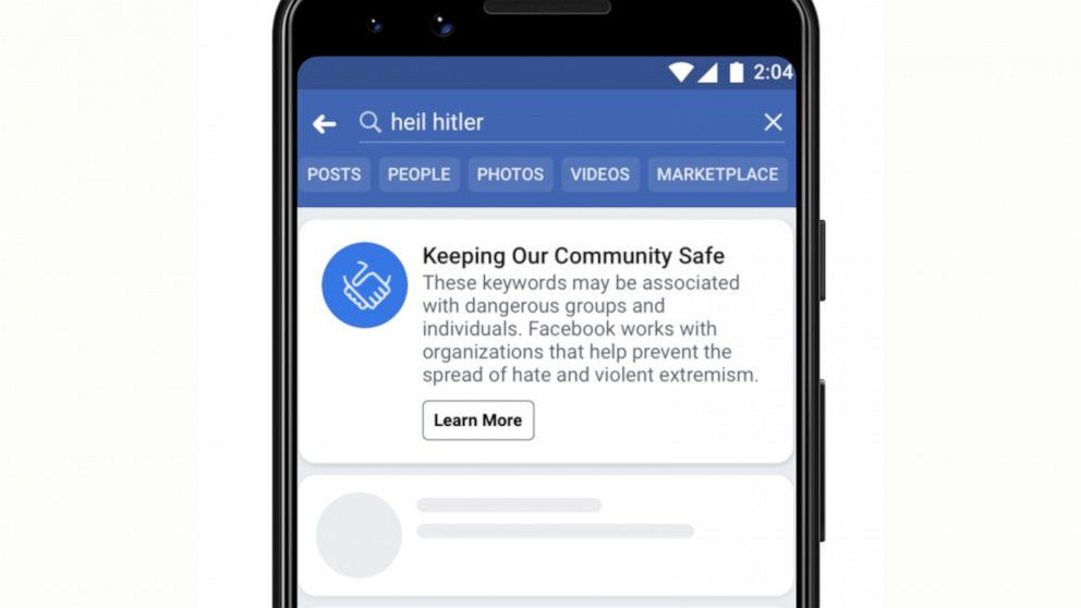 Facebook bans content supporting white nationalism on its platform