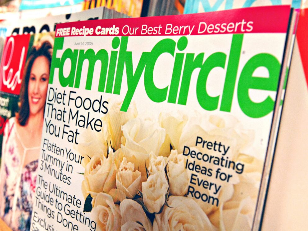 PHOTO: A copy of Family Circle magazine is displayed for a photograph in a Borders bookstore in New York, May 24, 2005.