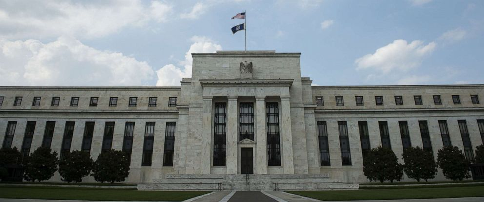 PHOTO: In this file photo taken on June 14, 2017, the U.S. Federal Reserve is seen in Washington.