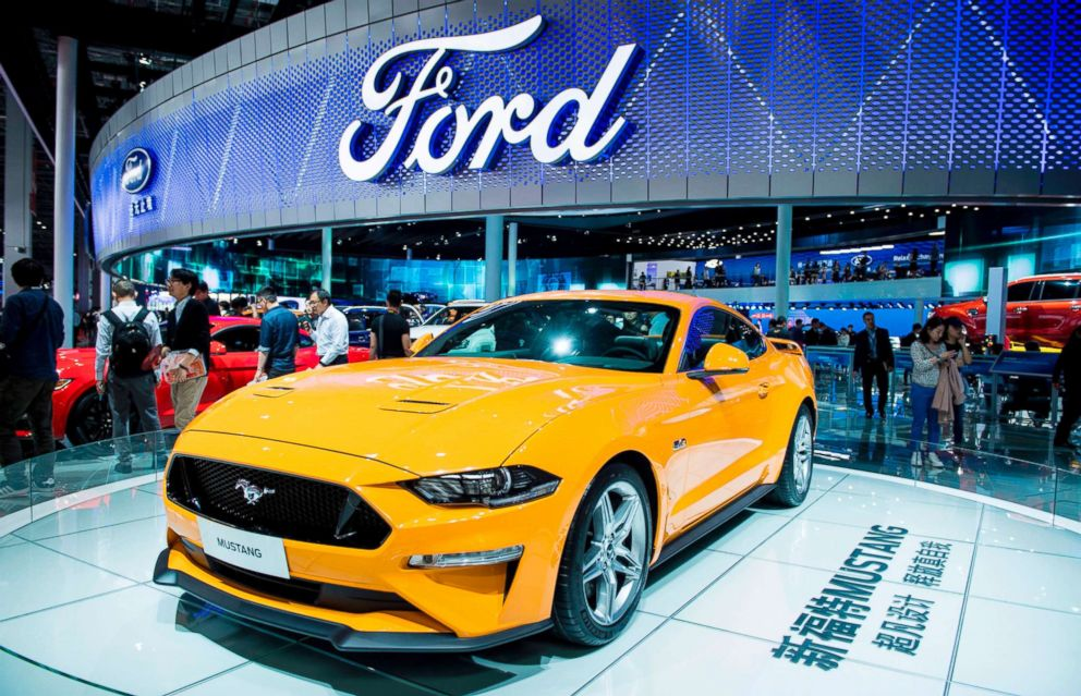PHOTO: The new Ford Mustang is displayed during the first day of the 17th Shanghai International Automobile Industry Exhibition in Shanghai, April 19, 2017.