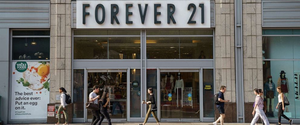 PHOTO: A Forever 21 store stands in Union Square in New York City, Sept. 12, 2019.