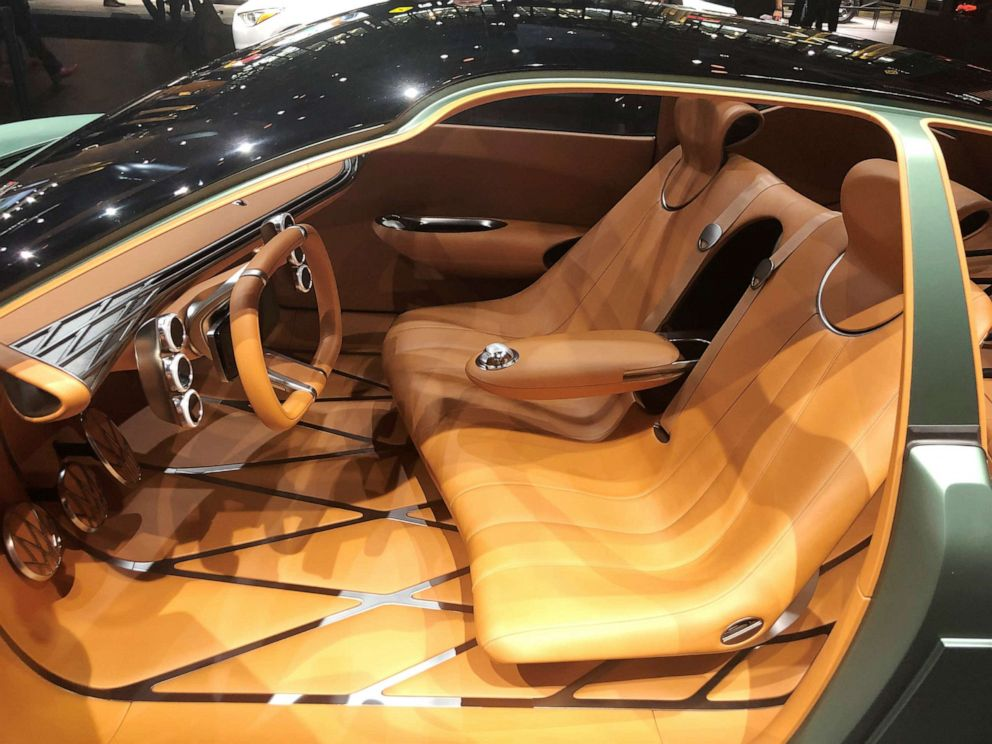 PHOTO: Inside the Genesis Mint electric car concept, unveiled at the New York International Auto Show, New York, April 17.