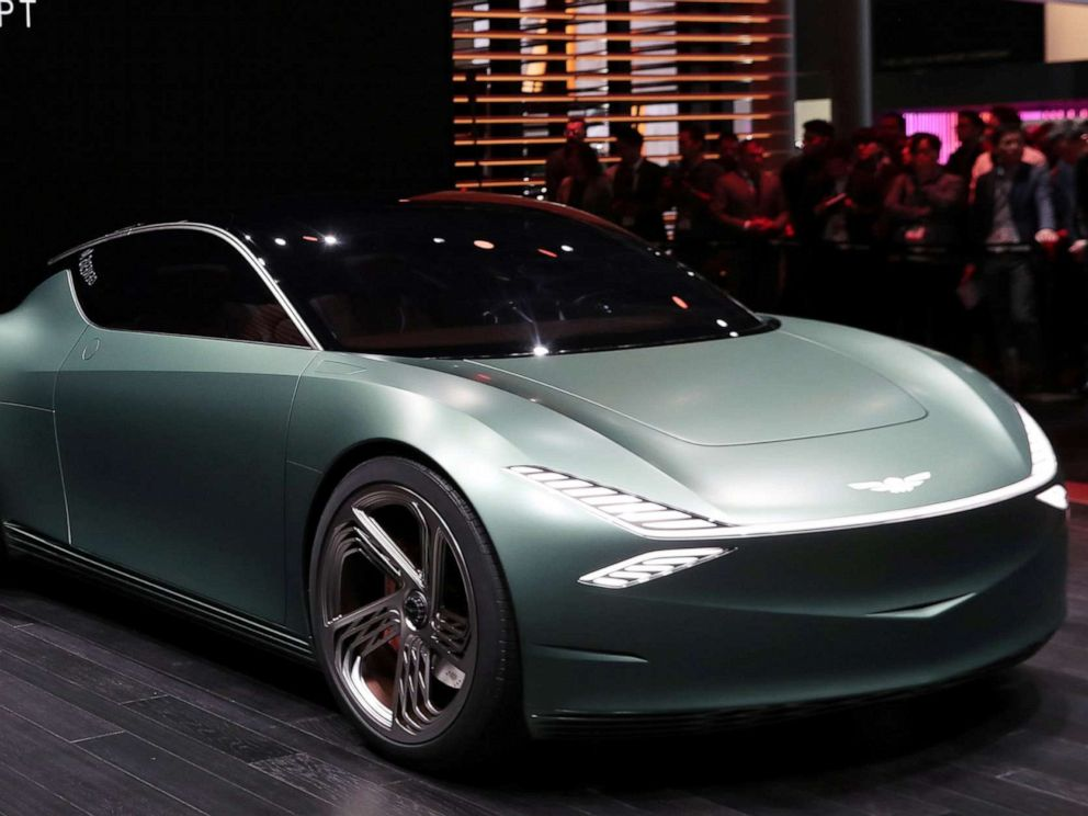 PHOTO: The Genesis Mint concept car is revealed at the 2019 New York International Auto Show in New York City, April 17, 2019.