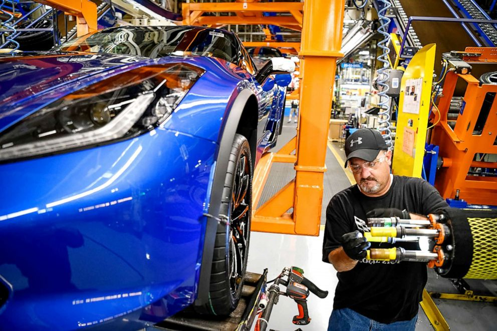 PHOTO: GM said it would add a second shift and more than 400 hourly jobs at its Kentucky plant to support the production of the next generation Corvette.