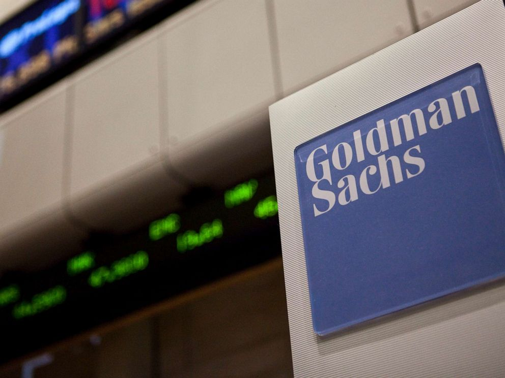 PHOTO:A Goldman Sachs logo is displayed on the floor of the New York Stock Exchange in New York, August 11, 2010.