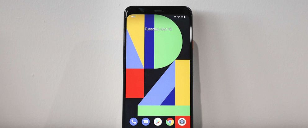 PHOTO: The new Google Pixel 4 smartphone is displayed during a Google launch event, Oct. 15, 2019, in New York.
