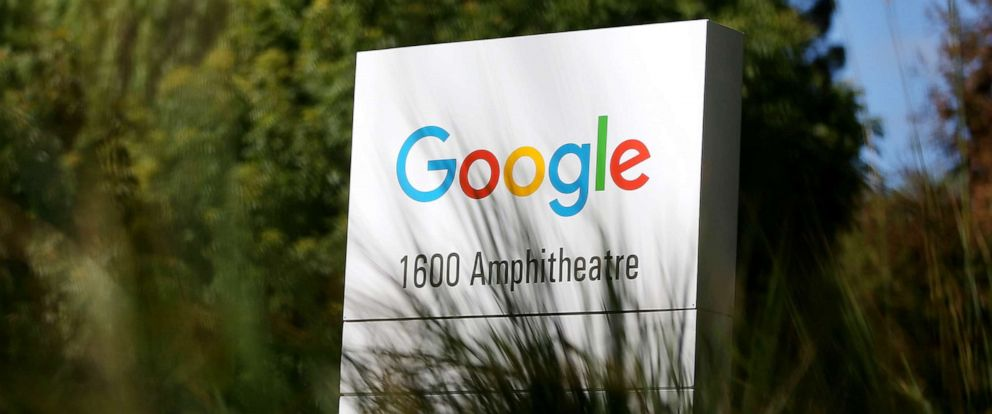 PHOTO: The Google logo is displayed on a sign outside of the Google headquarters on Sept. 2, 2015, in Mountain View, Calif.