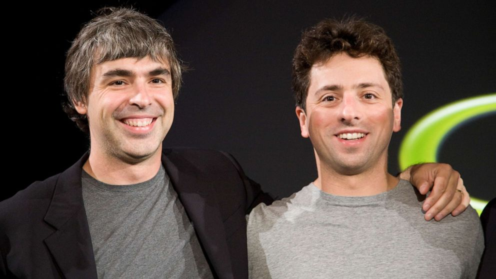Google founders Larry Page and Sergey Brin stepping down as CEO and president