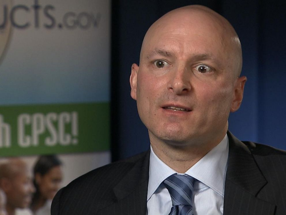 PHOTO: Chairman of the Consumer Product Safety Commission Elliot Kaye speaks with ABC News.