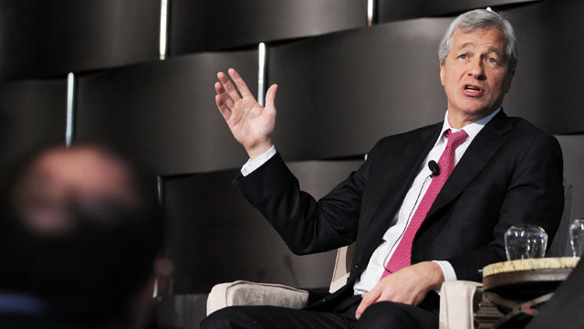 PHOTO: JPMorgan Chase & Co. chairman and CEO Jamie Dimon speaks at the University of Rochesters New York City Conference, May 3, 2012 in New York City.