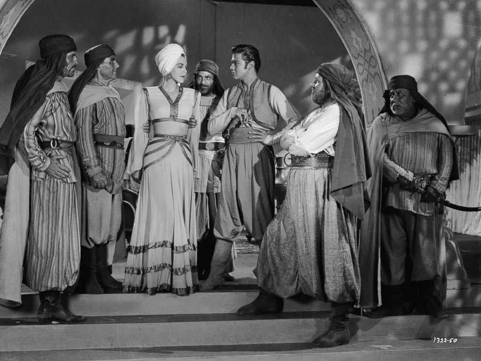 PHOTO: Turhan Bey stars with Maria Montez in Ali Baba and the Forty Thieves directed by Arthur Lubin in 1944.