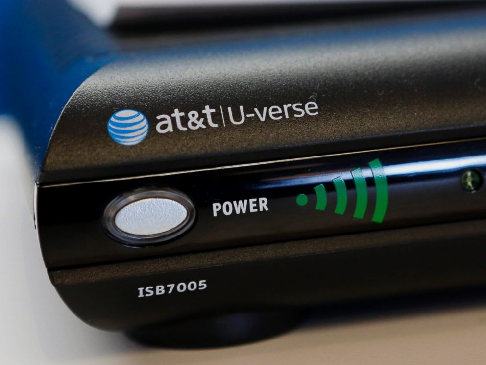 PHOTO: An AT&T Inc. U-verse TV system is displayed for sale at a store in Manhattan Beach, Calif. on July 22, 2013.