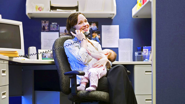 PHOTO: Don't bring your kids to work unless you can guarantee they will be absolute angels.