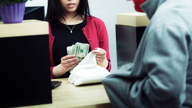 A recent UK study found that robbing banks does not pay well.