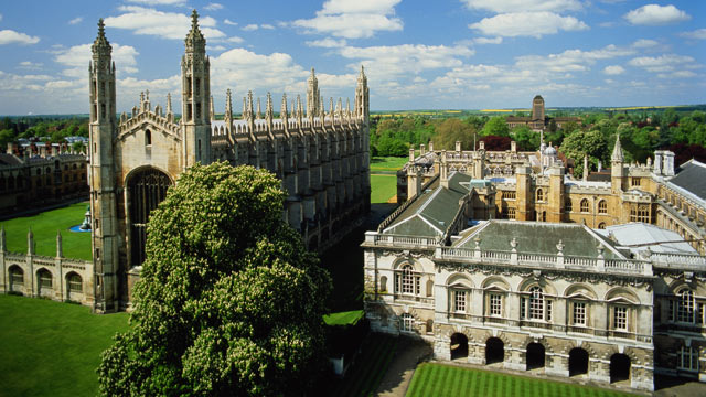 PHOTO: University of Cambridge, King's College, view from Great St. Mary's Church.