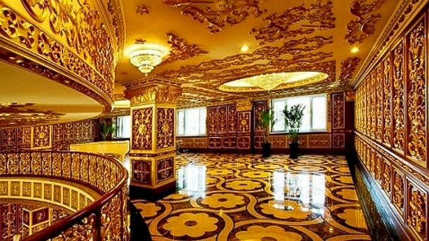 PHOTO: This updated photo received on September 7, 2011 shows the luxury interior decoration of the office building in Harbin, in northeast Chinas Heilongjiang province.