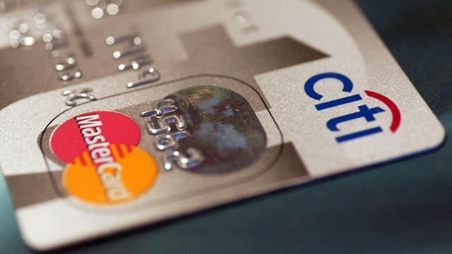 PHOTO: A Citibank logo is pictured on a credit card in New York on April 15, 2004.