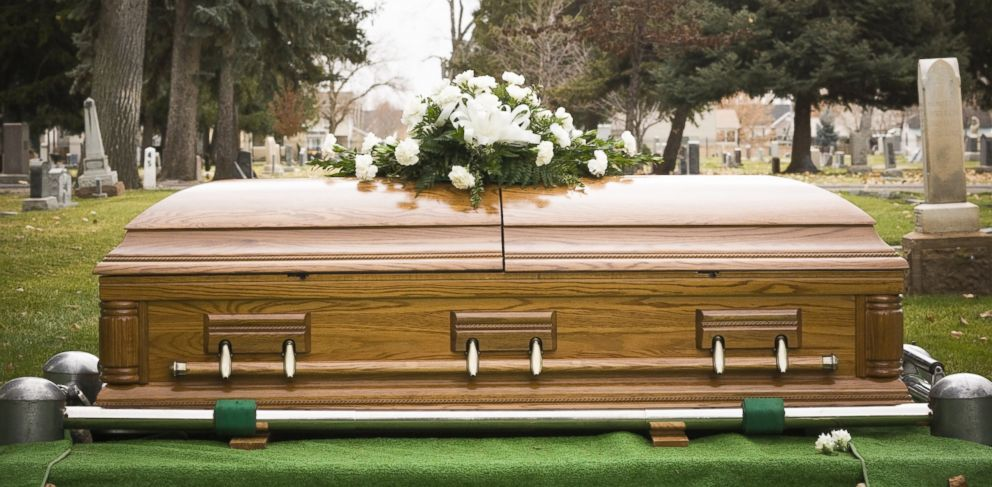 PHOTO: A coffin is seen at a cemetery in this undated stock photo.