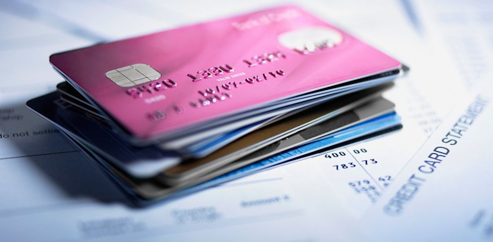 PHOTO: Credit cards and statements