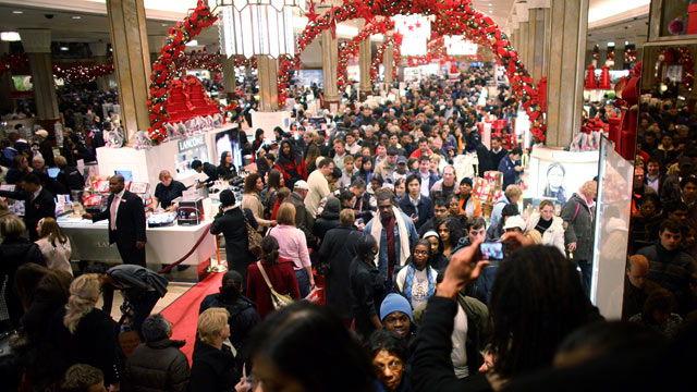 PHOTO: Crowds and long lines is the top dreaded holiday activity according to a survey by Consumer Reports. In this file photo a crowd of shoppers hunt for bargains at Macys, Nov. 28, 2008, in New York City.