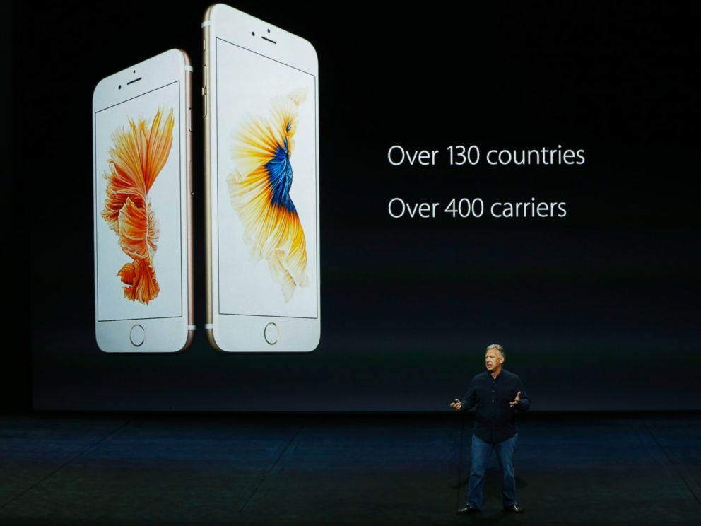 PHOTO:Apple Senior Vice President of Worldwide Marketing Phil Schiller speaks about the new iPhone 6s and 6s Plus during a Special Event, Sept. 9, 2015, in San Francisco.