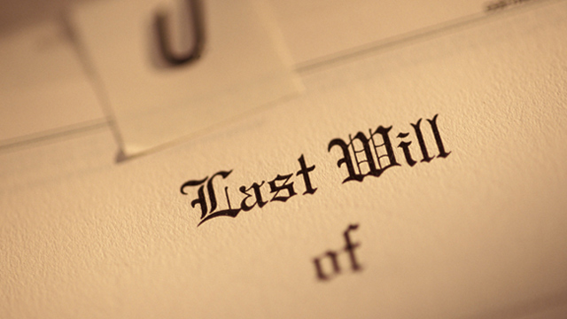 PHOTO: Last will and testament