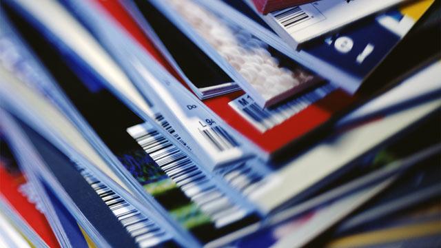 PHOTO: Stack of magazines