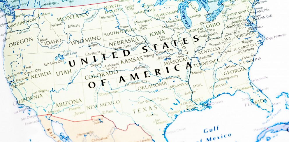PHOTO: A map of the United States.