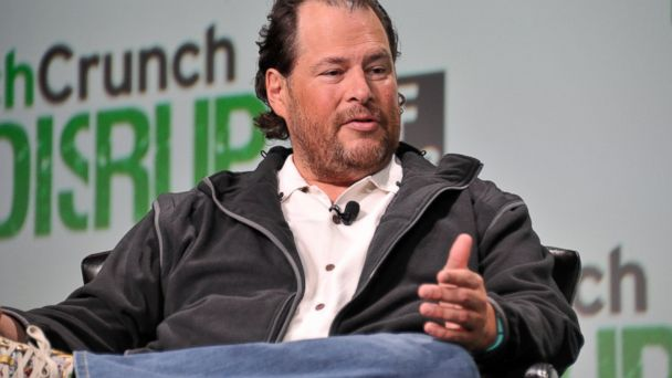 PHOTO: Mark Benioff of Salesforce.com attends Day 2 of TechCrunch Disrupt SF 2013 at San Francisco Design Center on September 10, 2013 in San Francisco, California.