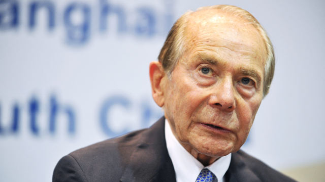 PHOTO: Maurice Hank Greenberg, Chairman and CEO of C.V. Starr & Co., Inc., looks on during the U.S.-China Investment Cooperation Forum at Beijing International Hotel on July 17, 2012 in Beijing, China.