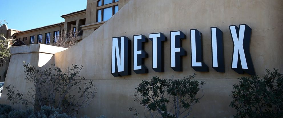 PHOTO: A sign is posted in front of the Netflix headquarters on January 22, 2014 in Los Gatos, California.