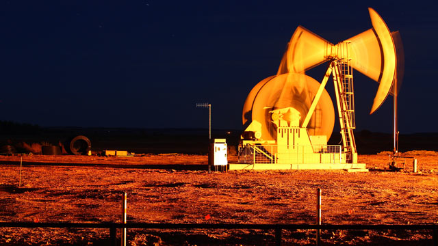 PHOTO: An oil pump jack stands outside of Watford City, North Dakota in this Oct. 14, 2011 file photo.