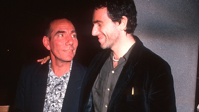 """PHOTO: Actor Daniel Day-Lewis and actor Pete Postlethwaite attend the """"In the Name of the Father"""" New York City Premiere on December 3, 1993 at the Museum of Modern Art in New York City."""
