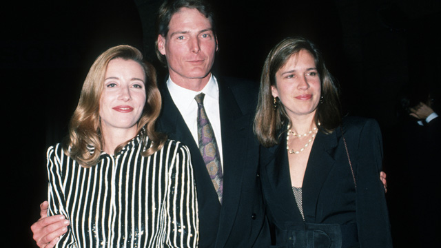 """PHOTO: Emma Thompson, Chrisopher Reeve and Dana Reeve during New York Screening of """"The Remains of the Day"""" at Paris Theater in New York City."""