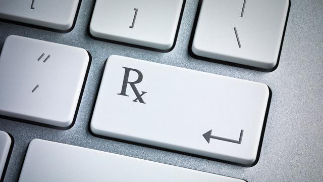 PHOTO: Rx on computer keyboard