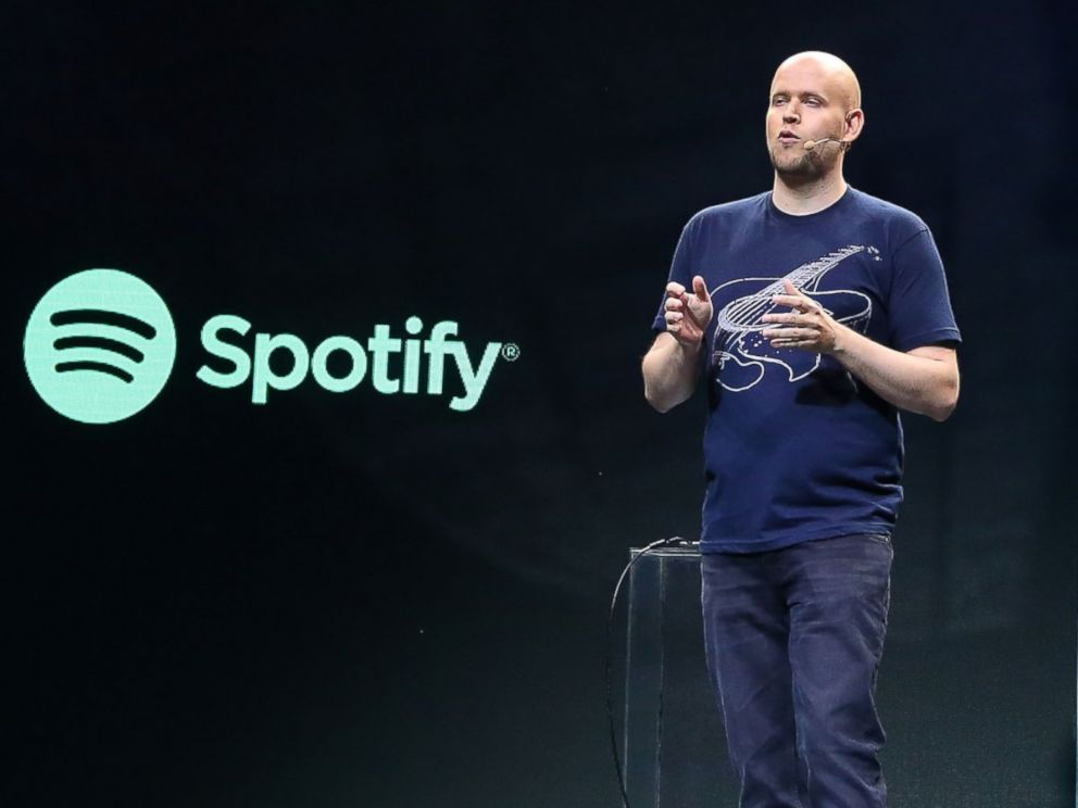 PHOTO: Spotify founder Daniel Ek speaks during the Spotify New Platform Launch at S.I.R. Studios on May 20, 2015 in New York City.