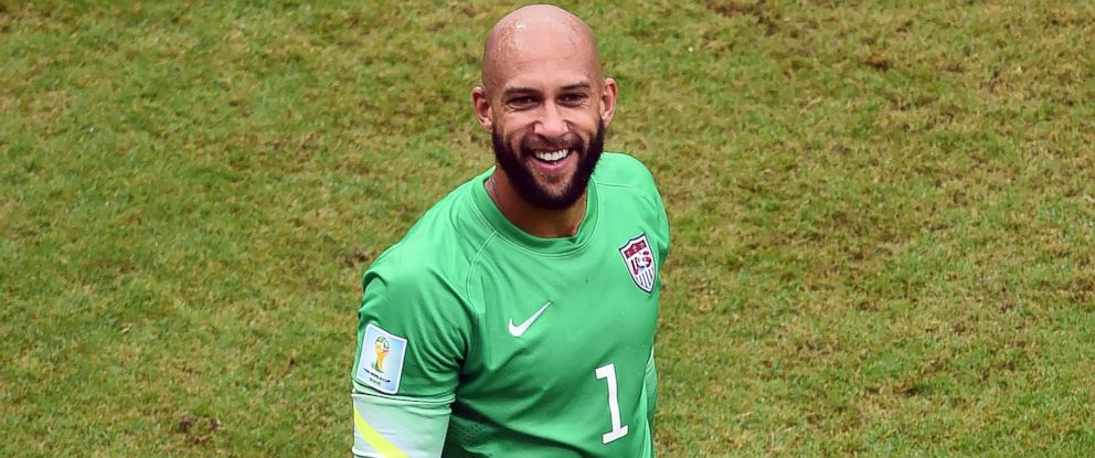 PHOTO: Tim Howard after the 2014 FIFA World Cup Brazil match between the United States and Germany at Arena Pernambuco on June 26, 2014 in Recife, Brazil.