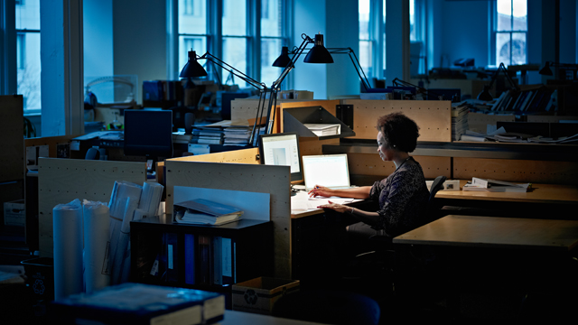 PHOTO: Research shows over-working can decrease performance because it deprives you of sleep.