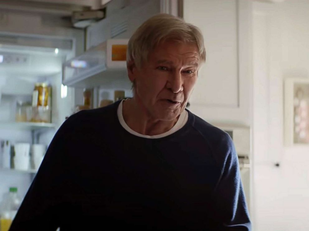 PHOTO: Amazon shows a scene from the companys 2019 Super Bowl NFL football spot featuring Harrison Ford.
