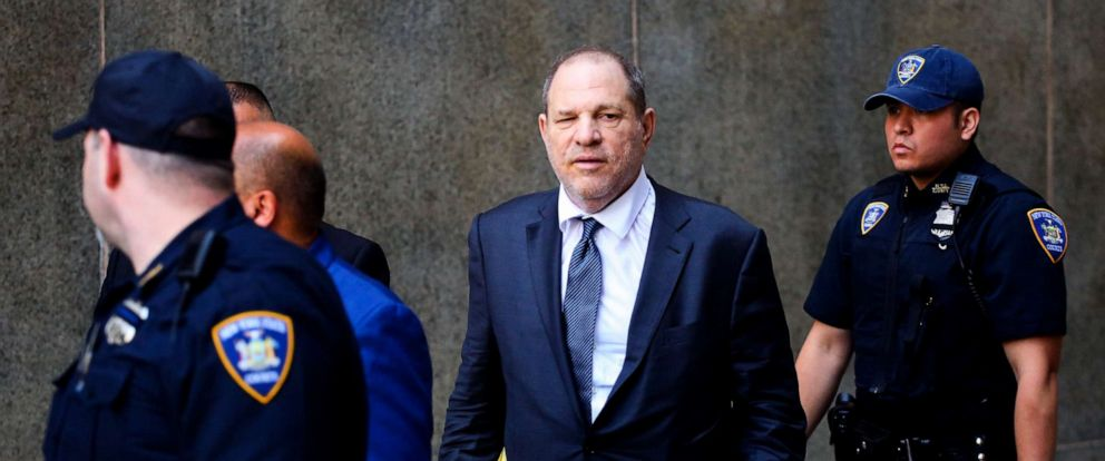 PHOTO: Harvey Weinstein exits after his appearance in criminal court on sexual assault charges on July 11, 2019, in New York.